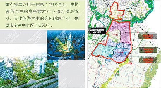 天府新城规划图高清图片