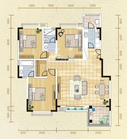 美好家园c户型图,房型图,美好家园c详情高清图片
