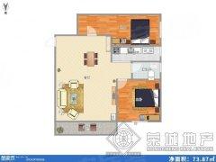 市中心白塔路七彩之门精装2房带部分家具低价出租