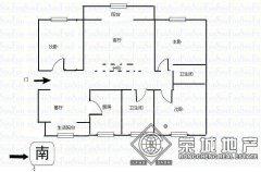 福康花园北区省高院3房 精装131平3000元/月南北