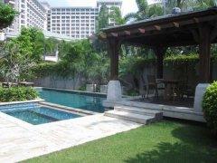 三亚湾一线海景别墅、豪华装修5房带泳池花园、长短租均可拎包住