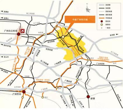 中新知识城地理位置