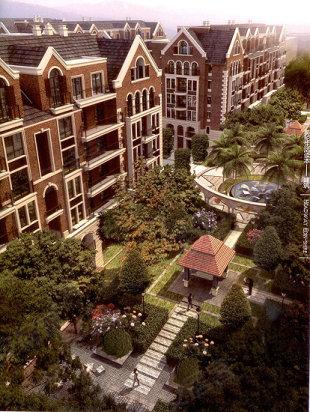 项目建筑外立面和园林景观效果图
