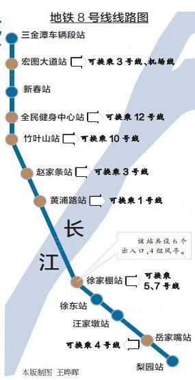 武汉地铁8号线线路图-地铁8号线旁好房大搜罗 首付2万月供1元图片